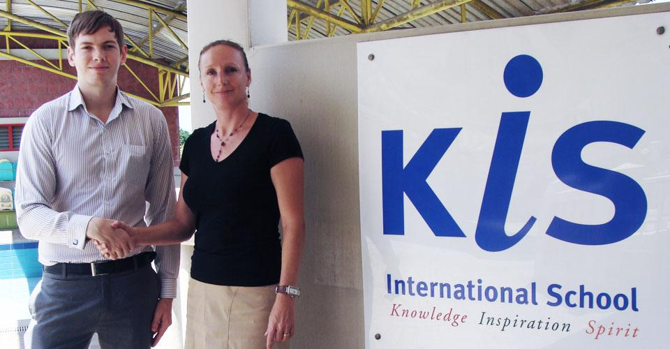 Marketing Bangkok Managing Director with Head of Marketing for KIS International School